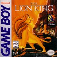 The Lion King Game Boy Cover