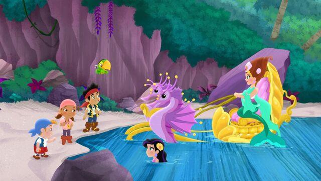 File:Jake&crew with Marina& Queen Coralie-The Mermaid Queen's Voice.jpg