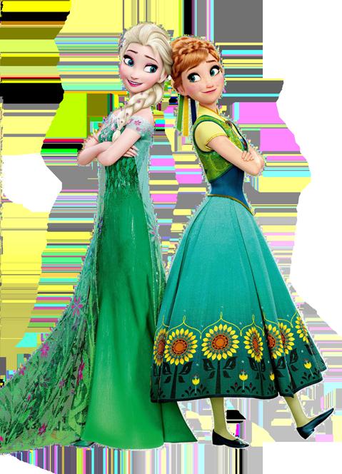 Elsa Anna Frozen Fever Render Disney