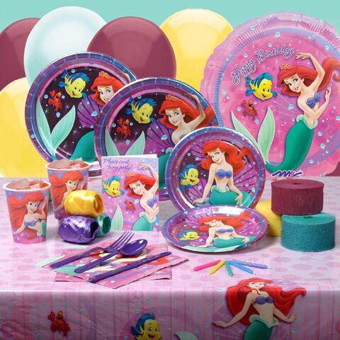 File:Ariel, flounder, and sebastion table set.jpg