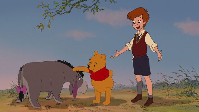 File:Winnie the Pooh Christopher Robin has got a surprise for Pooh Bear.jpg