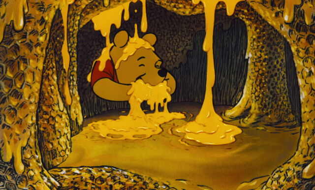 File:Winnie the Pooh is eating up all the honey.jpg