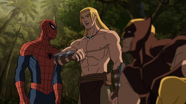 File:Spider-Man Ka-Zar Wolverine.png