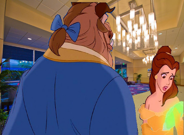 File:Belle gets anxious with Beast at the Disneyland Hotel Lobby.PNG