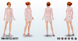 PowderedPink - Pink Ruffles Outfit