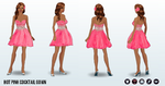 WinterBluesGiftingSpree - Hot Pink Cocktail Gown