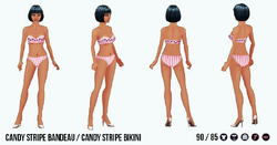 Athena - Candy Stripe Bandeau Candy Stripe Bikini