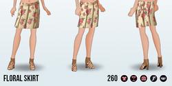 GirlNextDoorSpin - Floral Skirt