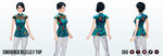 MoonFestival - Embroidered Lily Top
