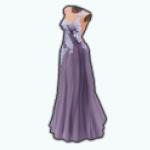 PoppyAndAsterSpin - Dusty Aster Gown