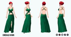 JumpIntoFall - Emerald Gown
