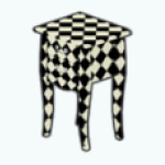 FreakyFunhouseDecor - Harlequin End Table