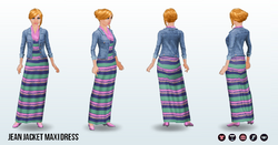 BlogAThon - Jean Jacket Maxi Dress