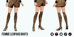 FemmeFatale - Femme Leopard Boots