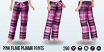 WarmByTheCoffee - Pink Plaid Pajama Pants