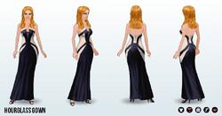 BlackAndWhite - Hourglass Gown