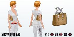 CountyFair - Straw Tote Bag