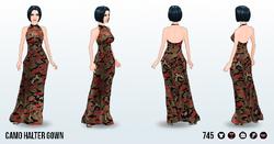 DestinationTokyoSpin - Camo Halter Gown2