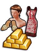 GoldDeal - 170610 - Summer Twist Hair - Sun Sparkle Heels - Summer Heat Dress