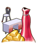 GoldDeal - 160131 - Gown - Desk - Chair