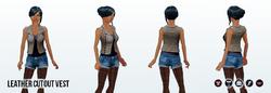 PrettyWardrobe - Leather Cutout Vest
