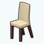 CafeRaffle - Beige Dining Chair