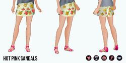 WeekendChic - Hot Pink Sandals