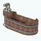 BanyaRetreatDecor - Wooden Bathtub