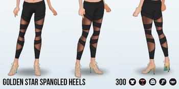 FourthOfJuly - Golden Star Spangled Heels