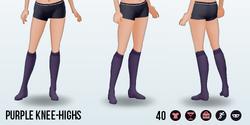 HartAndGray - Purple Knee-Highs