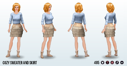 HomeComfortSpin - Cozy Sweater and Skirt