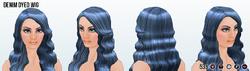MarchHairSpin - Denim Dyed Wig 2