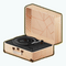DesertSongDecor - Blush Record Player