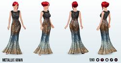 CafeRaffle - Metallic Gown