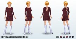 LoveSong - Rhythm and Burgandies Dress