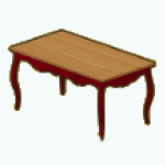 EnglishRoseSpin - Cottage Dining Table red