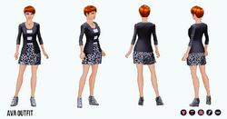 BlackAndWhite - Ava Outfit