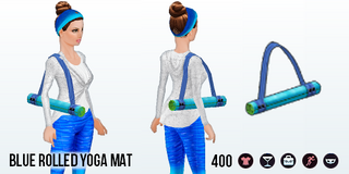 DitchYourResolutionsDay - Blue Rolled Yoga Mat