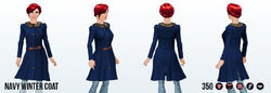 UnderTheMistletoe - Navy Winter Coat