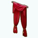ChristmasDecor - Red Velvet Curtains