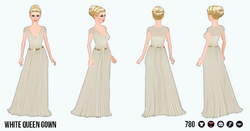 TheVault - White Queen Gown