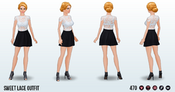 CafeRaffle - Sweet Lace Outfit