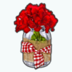 IndoorPicnicSpin - Red Flowers Vase