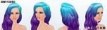 MaskedMagician - Showy Neon Wig