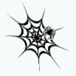 GothicDecor - Black Spiderweb Decal