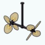 BotanicalBeautySpin - Double Ceiling Fan
