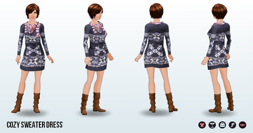 Thanksgiving - Cozy Sweater Dress