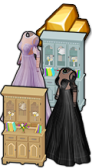 GoldDeal - 170318 - Lilac Blossom Gown - Blackbird Gown - Blooming Curio Cabinet - Spring Cabinet