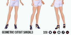 TheVault - Geometric Cutout Sandals