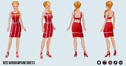 ValentinesDay - Red Windowpane Dress